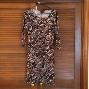 Flattering snake skin dress